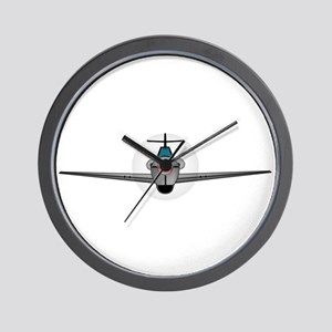 Old Style Fighter Aircraft Wall Clock