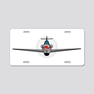 Old Style Fighter Aircraft Aluminum License Plate