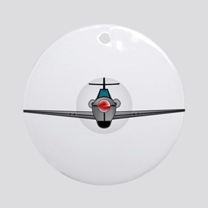 Old Style Fighter Aircraft Round Ornament
