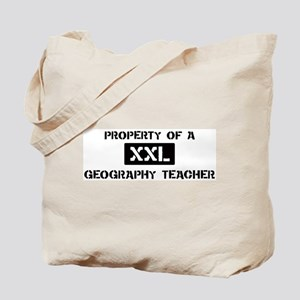 Property of: Geography Teache Tote Bag