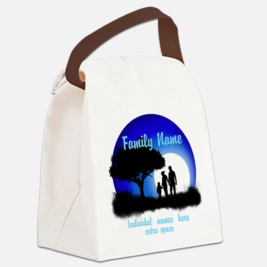 Happy Family Canvas Lunch Bag