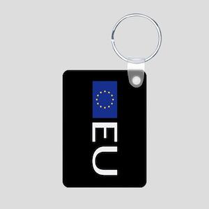 European Union: European U Aluminum Photo Keychain