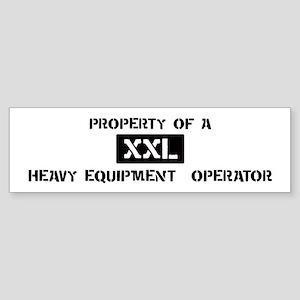 Property of: Heavy Equipment Bumper Sticker