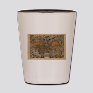 Ancient Map of The World (1531) Shot Glass