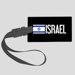 Israel: Israeli Flag & Israel Large Luggage Tag