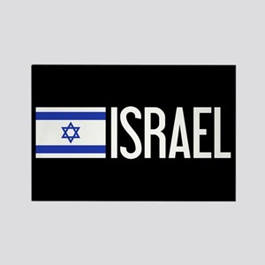 Israel: Israeli Flag & Israel Rectangle Magnet