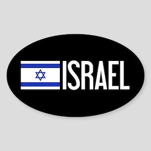 Israel: Israeli Flag & Israel Sticker (Oval)