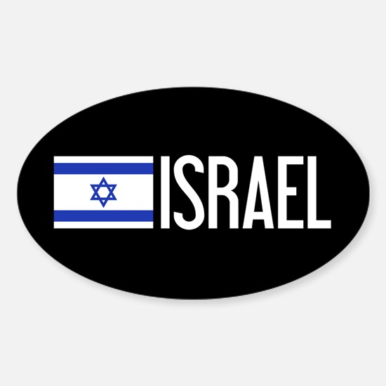 Israel: Israeli Flag & Israel Sticker (Oval)