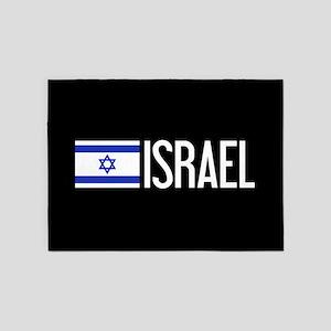 Israel: Israeli Flag & Israel 5'x7'Area Rug