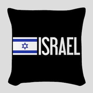 Israel: Israeli Flag & Israel Woven Throw Pillow
