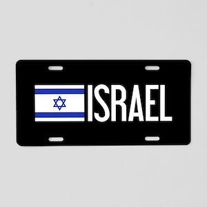 Israel: Israeli Flag & Isra Aluminum License Plate