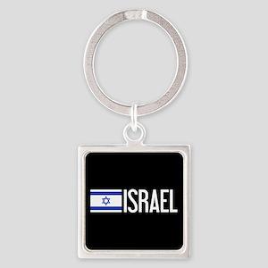 Israel: Israeli Flag & Israel Square Keychain