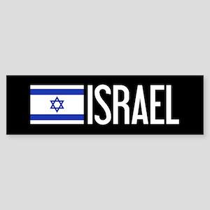Israel: Israeli Flag & Israel Sticker (Bumper)