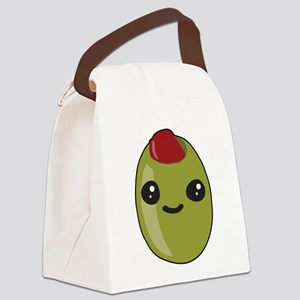 Cute Olive Canvas Lunch Bag