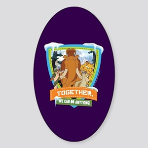 Ice Age Together Sticker (Oval)
