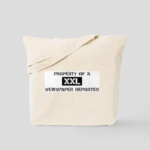 Property of: Newspaper Report Tote Bag