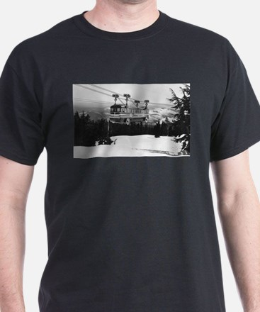 Mt. Hood Skiway to Timberline Lodge T-Shirt