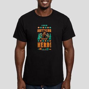 Ice Age Herd Men's Fitted T-Shirt (dark)