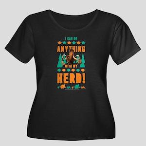 Ice Age Women's Plus Size Scoop Neck Dark T-Shirt