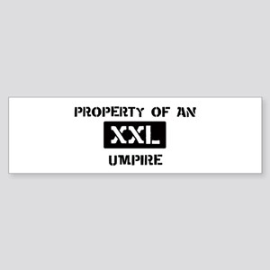 Property of: Umpire Bumper Sticker
