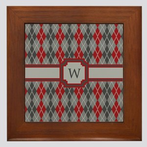 Ashes and Embers Argyle Framed Tile