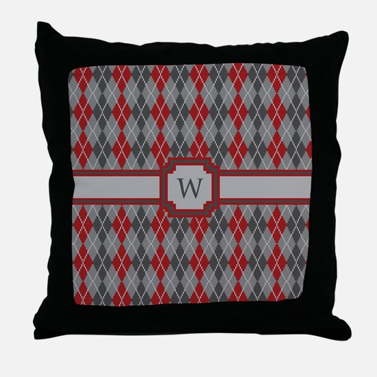 Ashes and Embers Argyle Throw Pillow