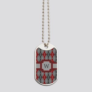 Ashes and Embers Argyle Dog Tags