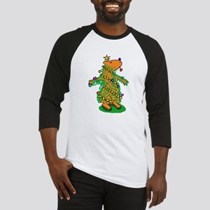 Christmas Tree Capybara Baseball Jersey