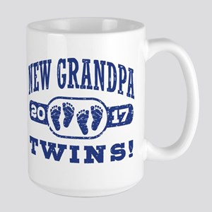 New Grandpa Twins 2017 Large Mug