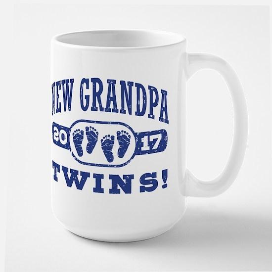 New Grandpa Twins 2017 Large Mug