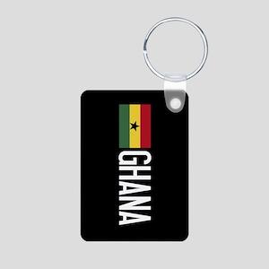 Ghana: Ghanaian Flag & Gha Aluminum Photo Keychain