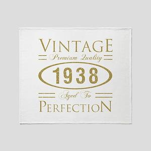 Vintage 1938 Premium Throw Blanket