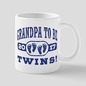 Grandpa To Be Twins 2017 Mug