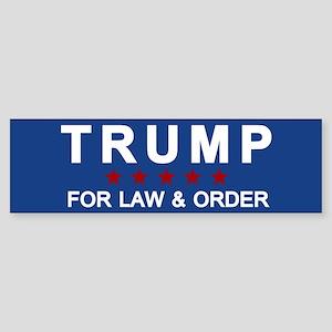 Trump Law & Order Bumper Sticker