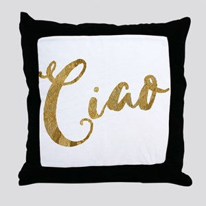 Golden Look Ciao Throw Pillow