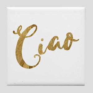 Golden Look Ciao Tile Coaster