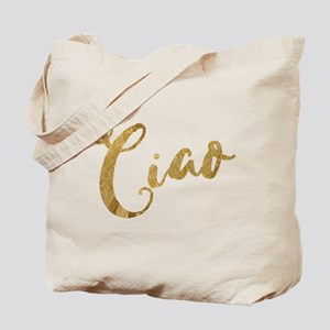 Golden Look Ciao Tote Bag