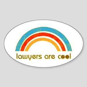 Lawyers Are Cool Oval Sticker