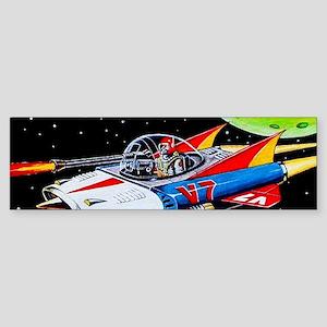V-7 SPACE SHIP Bumper Sticker