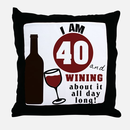 Unique 40th birthday Throw Pillow