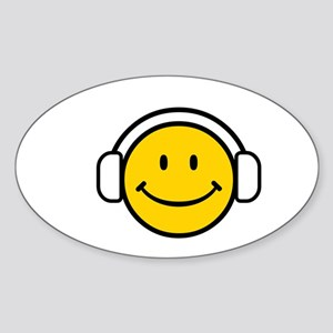 SMILE GROOVE Oval Sticker