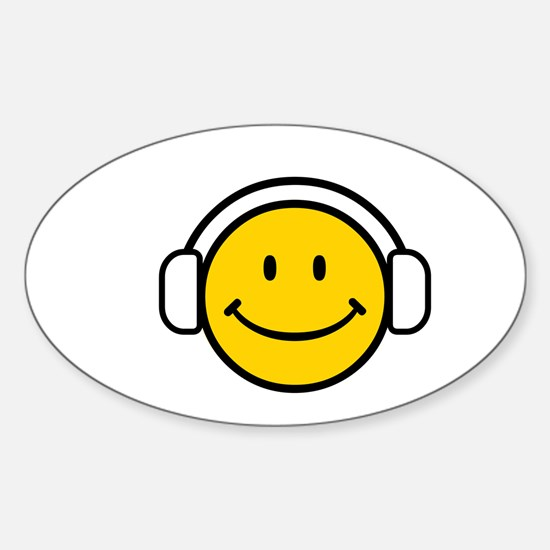 SMILE GROOVE Oval Decal