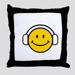 SMILE GROOVE Throw Pillow