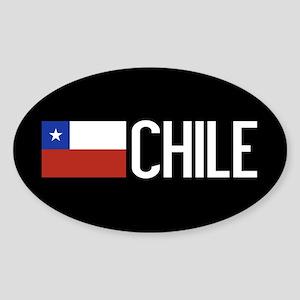 Chile: Chilean Flag & Chile Sticker (Oval)