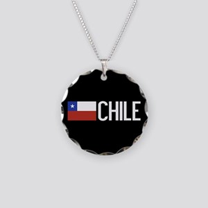 Chile: Chilean Flag & Chile Necklace Circle Charm