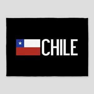 Chile: Chilean Flag & Chile 5'x7'Area Rug