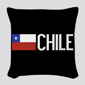 Chile: Chilean Flag & Chile Woven Throw Pillow