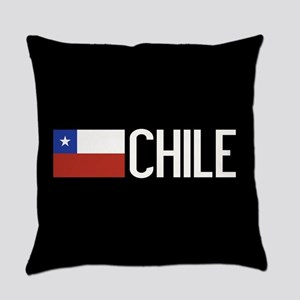Chile: Chilean Flag & Chile Everyday Pillow