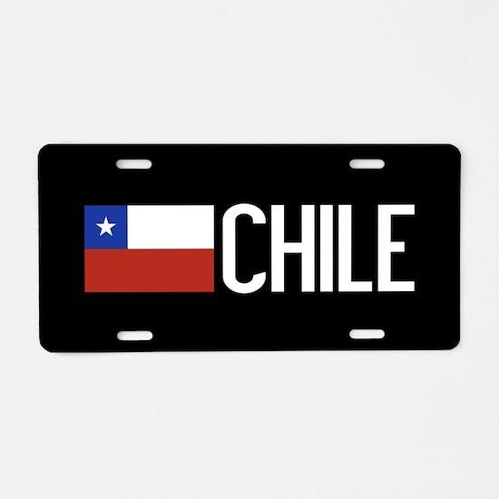 Chile: Chilean Flag & Chile Aluminum License Plate