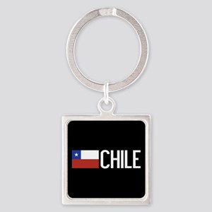 Chile: Chilean Flag & Chile Square Keychain